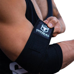 black elbow compression wraps