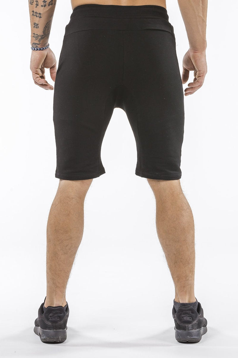 black comfortable soft workout shorts