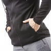 black best gym zip hoodie from iron bull strength