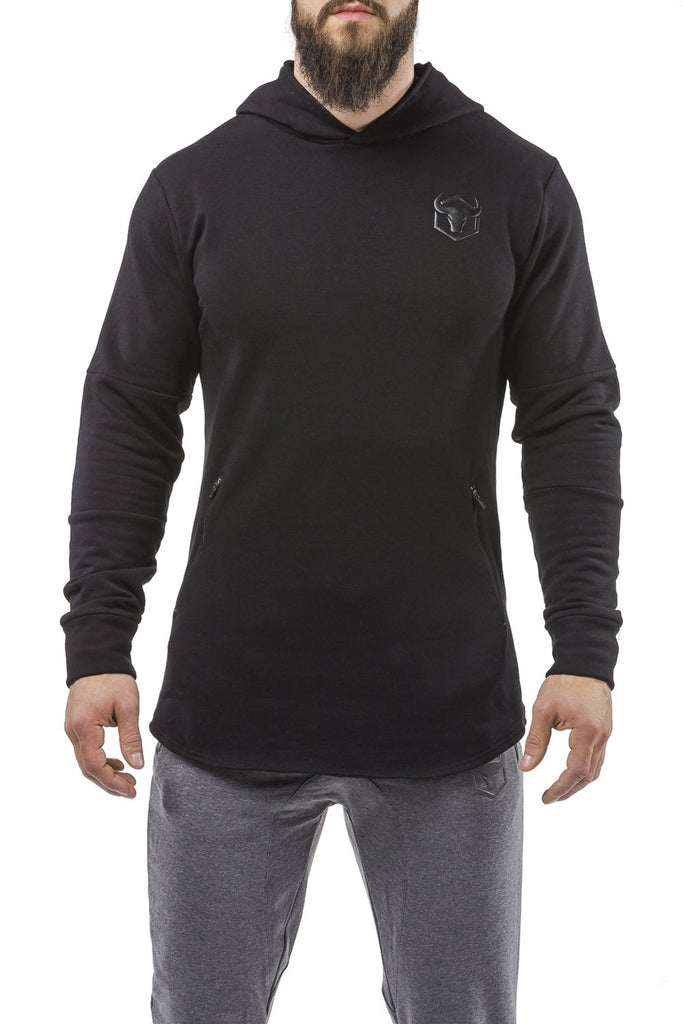 black all season good looking hoodie muscle fit