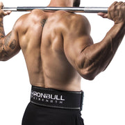 black squat and deadlift belt iron bull strength