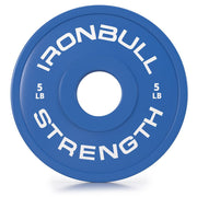 5-lbs blue fractional bumper plate front view