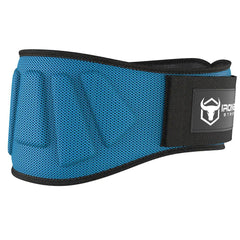 cyan iron bull strength 6 inches nylon weightlifting belt