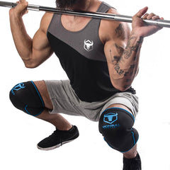 black-blue knee sleeves for squats