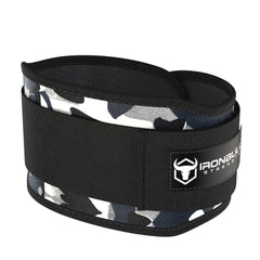 camo-white 5 inches weight lifting belt for powerlifting
