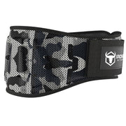 camo-white iron bull strength 6 inches nylon weightlifting belt