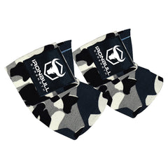 camo-white iron bull strength elbow wraps for bench press