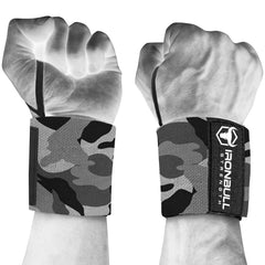 camo-white iron bull wrist wraps wrist protection