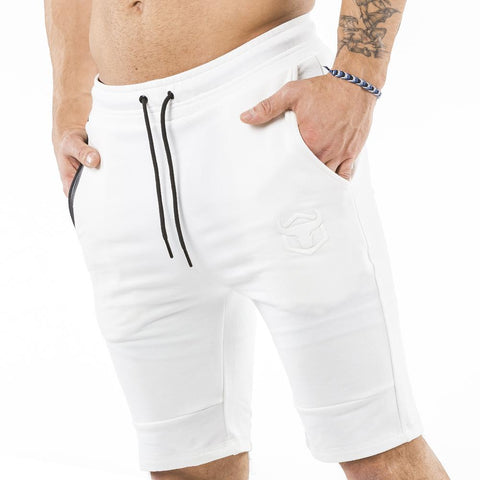 cream nice looking shorts for bodybuilder and strongman