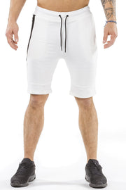 cream classic zip shorts from iron bull strength