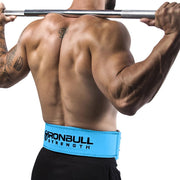 cyan squat and deadlift belt iron bull strength