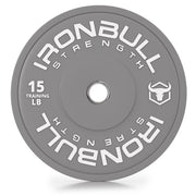 15-lb gray bumper plate front view