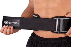 gray weight lifting belt squat assist
