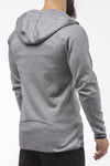 gray tapered fit zip hoodie bodybuilder strongman