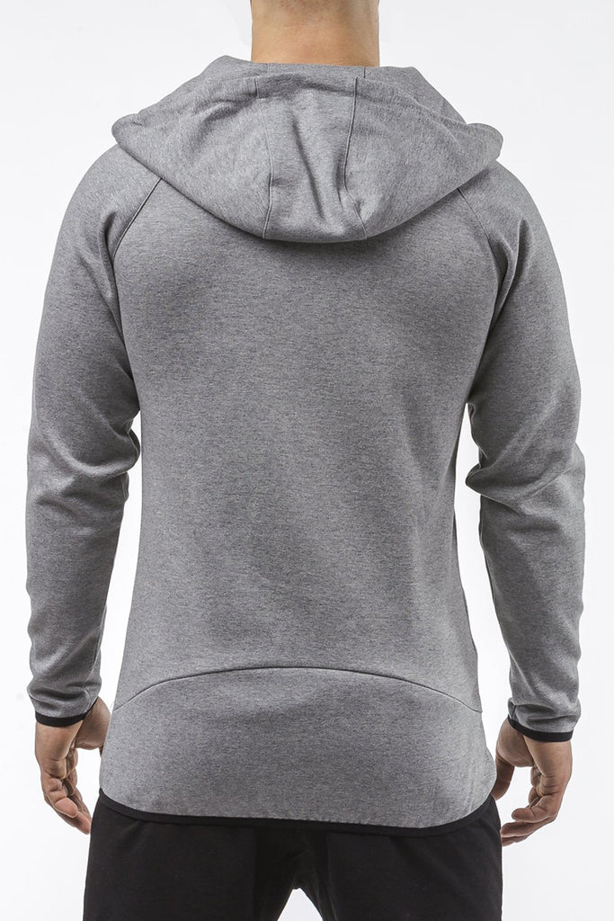 gray iron bull strength high quality soft cotton zip up hoodie