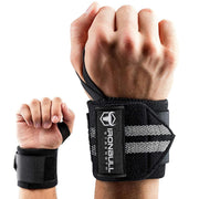 black-gray iron bull wrist wraps wrist protection