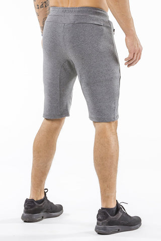 gray tapered fit shorts for fitness