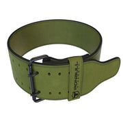 army-green 10mm suede powerlifting belt