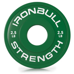 2-5-lbs green fractional bumper plate front view