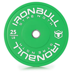 25-lb green bumper plate front view
