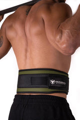 army-green back support 5 inches weight lifting nylon belt