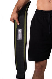 army-green weight lifting belt squat assist