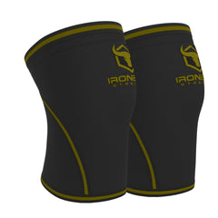 black-army-green iron bull strength 7mm knee sleeves side view