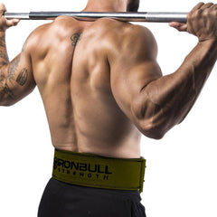 army-green squat and deadlift belt iron bull strength