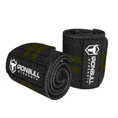 black-army-green wrist wraps for weight lifting