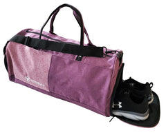 fuchsia gym duffle bag shoes compartment