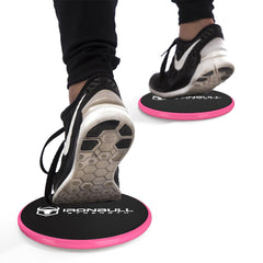 black-pink advanced gliding discs under shoes
