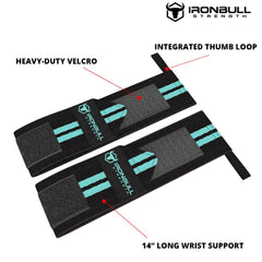 black-mint woman wrist wraps features