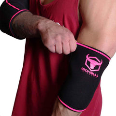 black-pink elbow protection sleeves for fitness