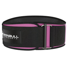 pink iron bull strength 6 inches weightlifting belt