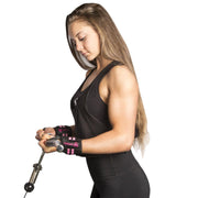black-pink women wrist wraps protection for arms workout