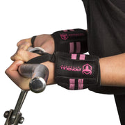 black-pink women wrist wraps biceps curl