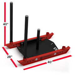 power strength training sled dimensions