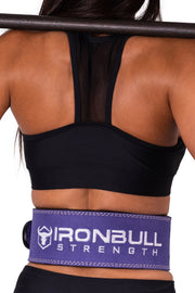 purple squat and deadlift belt iron bull strength