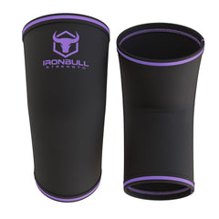 black-purple 5mm elbow sleeves front and back view