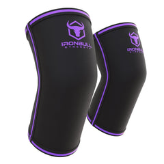 black-purple powerlifting elbow sleeve iron bull strength