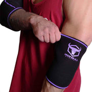 black-purple elbow protection sleeves for fitness