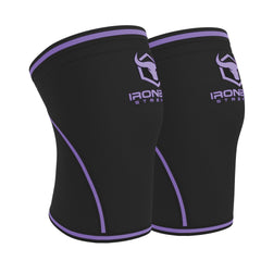 black-purple iron bull strength 7mm knee sleeves side view