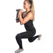 black-purple knee protector sleeves for lunges