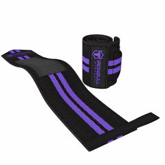 black-purple women weight lifting wrist wraps