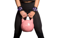black-purple women wrist wraps protection for kettlebell workout