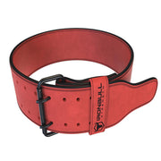 red 10mm suede powerlifting belt