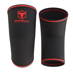 black-red 5mm elbow sleeves front and back view