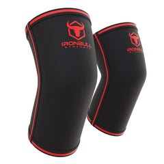black-red powerlifting elbow sleeve iron bull strength