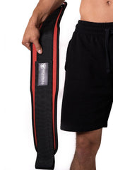red weight lifting belt squat assist