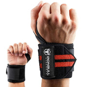black-red iron bull wrist wraps wrist protection